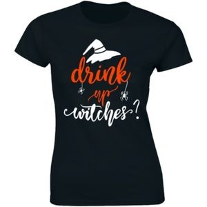 Drink Up Witches Halloween Witch Drinking T-shirt